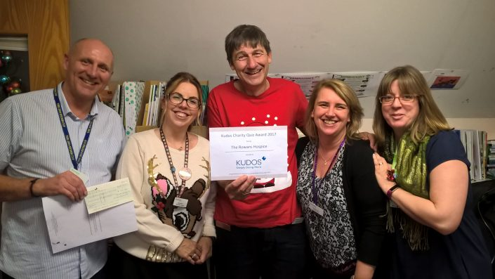 Rowans Hospice winners of the annual Kudos Quiz